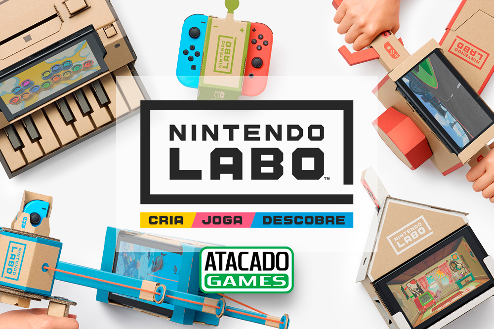 Novidade da Nintendo, Nintendo Labo chegou na Atacado Games Loja é a única distribuidora oficial de Nintendo da América Latina