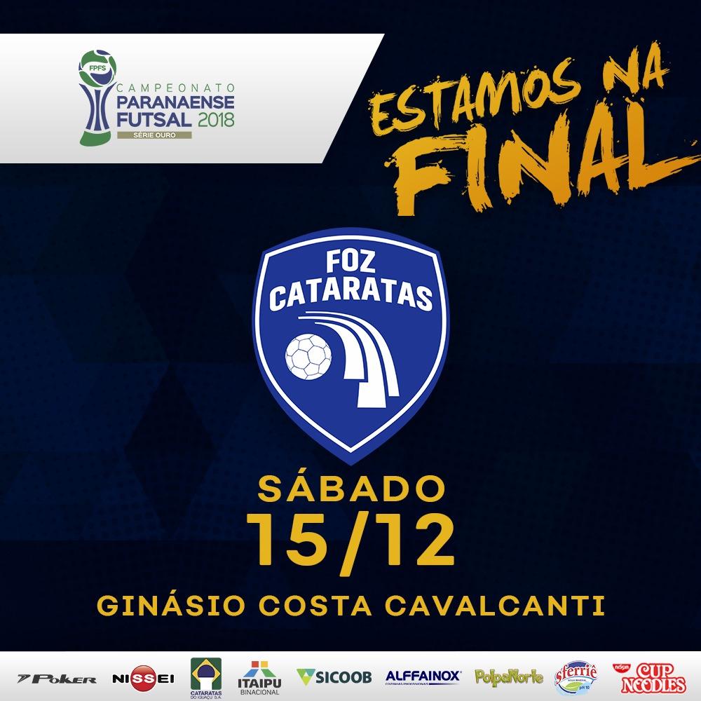 O Foz Cataratas Futsal disputará a final do Campeonato Paranaense de Futsal  – Série Ouro contra o vencedor do confronto entre Marreco e Pato Branco 425e8d3e69567